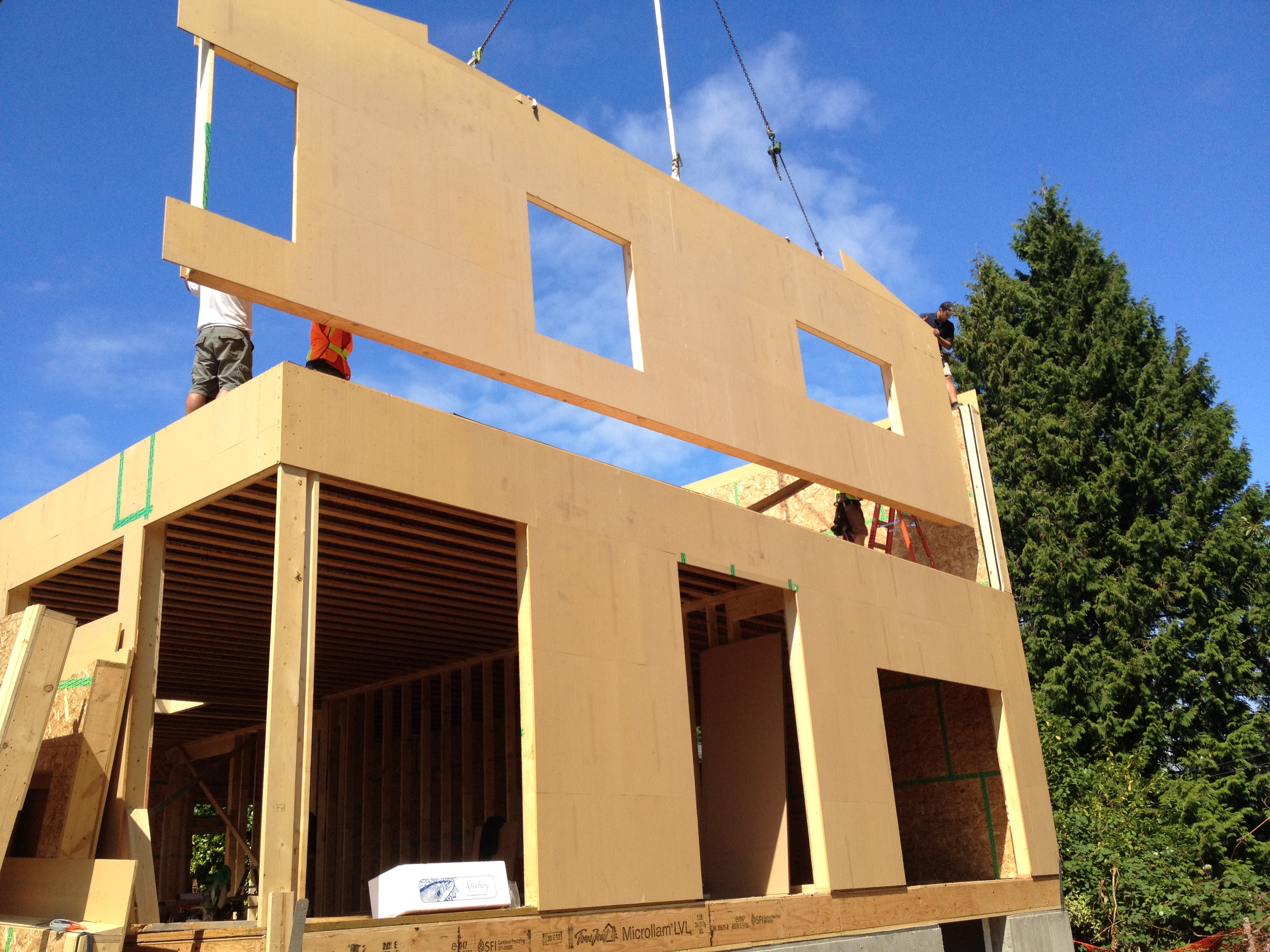 Construction on the 1st passive house for surrey finally for Sips panels canada