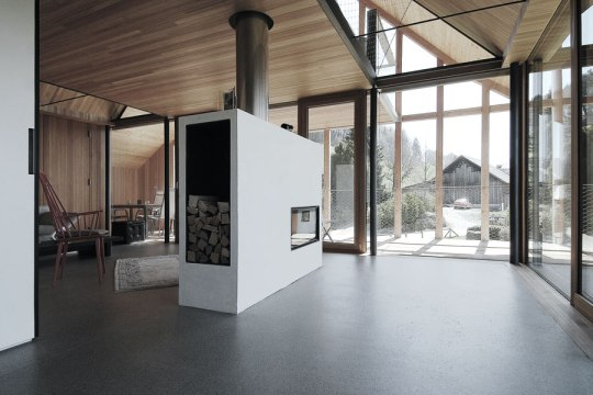 House S Interior- Use of Cross Laminated Timber - Wood=Larch