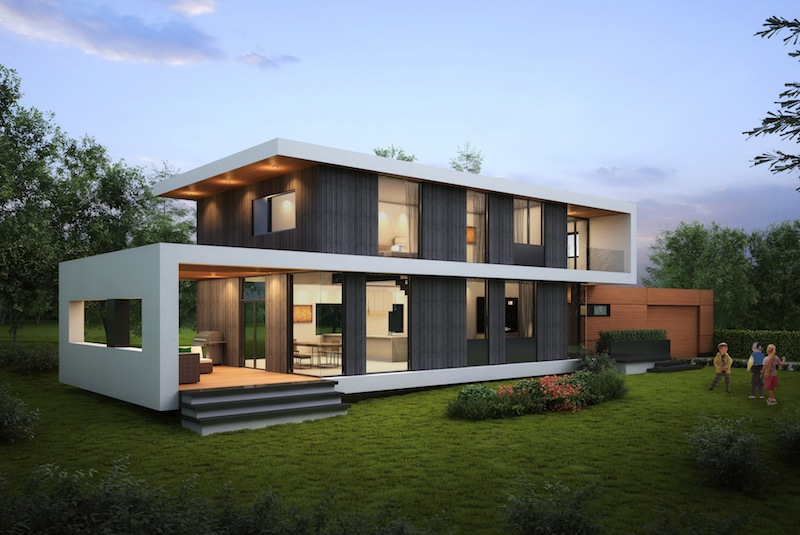 passive house kelowna stylish modern single family